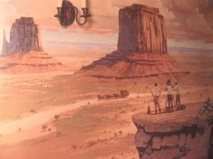 Michael Marquez's Cowboy Room mural paid homage to silent filmmakers.