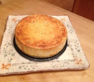 Shrimp cheesecake, right outta the oven!