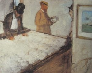 Degas's second painting of the cotton offices was a radical departure from the first. This was Impressionism at its purest.