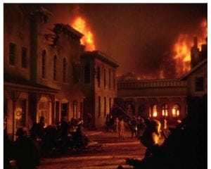 "Locals call the Burning of Atlanta as ""early urban renewal."""