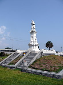 Mumford's final resting place at the Confederate War Memorial, New Orleans.
