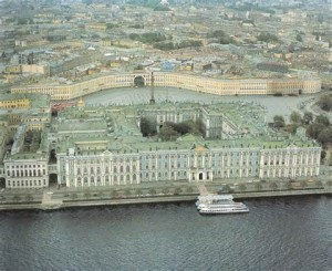 The Winter Palace in St. Petersburg.