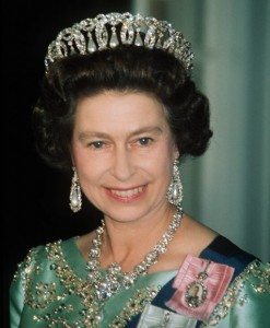 H.R.H. Queen Elizabeth and the Vladimir tiara.